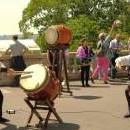 Duo Taiko + Violoncelle à Wake Up Drums 2015